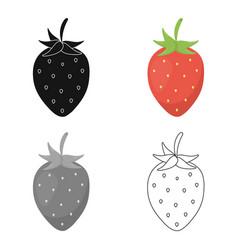 strawberry icon cartoon singe fruit icon vector image