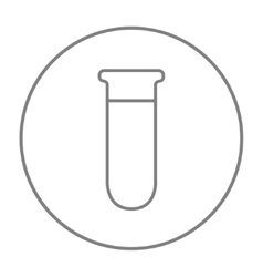 Test tube line icon vector image