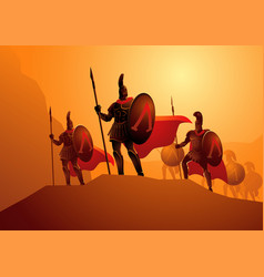 three hundred spartans at battle vector image
