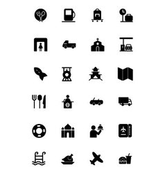 Travel Solid Icons 5 vector image