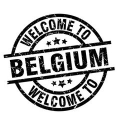 welcome to belgium black stamp vector image