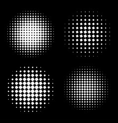 white abstract halftone circle shapes set vector image