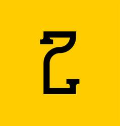 Z letter old russian font national folk alphabet vector