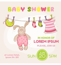 Baby Bunny Shower Card vector image vector image