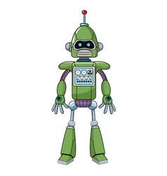 green robot machine engineering vector image vector image