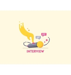 Microphone interview icon vector image vector image