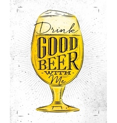Poster good beer vector image vector image