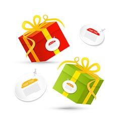 Red Green Present Box Gift Box Set vector image