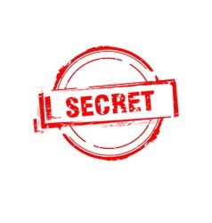 Secret offer rubber stamp on white vector image