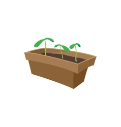 Seedling icon cartoon style vector image