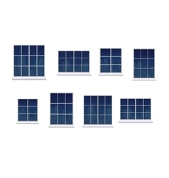Set window frames vector image