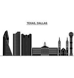 usa texas dallas architecture city skyline vector image