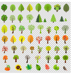 big nature set with trees vector image