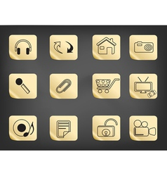 icons on blackboard vector image