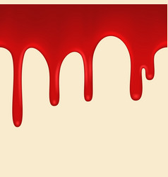 seamless red paint colorful dripping vector image vector image