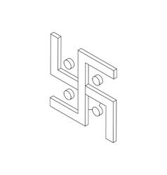 Swastika icon isometric 3d vector image