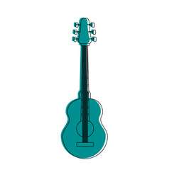 Bass guitar musical instrument icon image vector