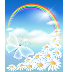 butterfly in the sky vector image