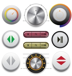 Buttons Set for Web and Mobile vector image vector image
