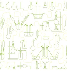 chemistry seamless texture green vector image vector image