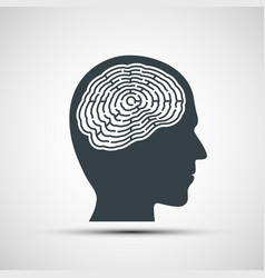 human head with a labyrinth vector image