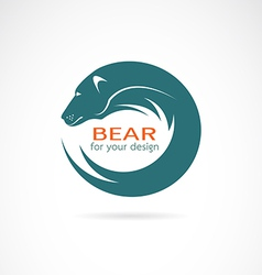 image of an bear design vector image vector image