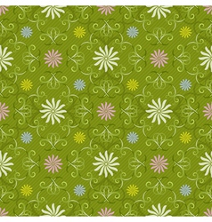 Seamless spring green pattern vector image vector image