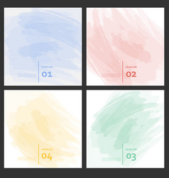 set of colored brush strokes colorful paints vector image
