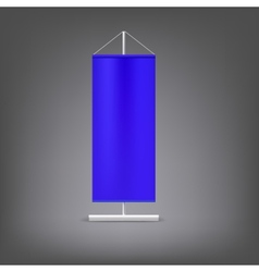 Blue advertising stand Blank vector image vector image