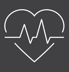 heartbeat line icon medicine and healthcare vector image