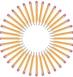 pencils arranged in a circle vector image vector image