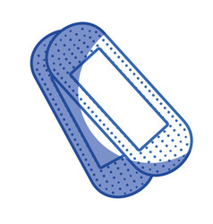 Silhouette aid band to cure the wound in the body vector
