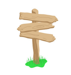three arrow shape cartoon wooden sign isolated on vector image vector image