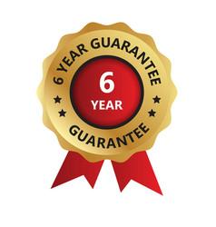 6 year guarantee badge year guarantee logo photo vector