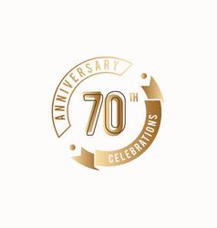 70 th anniversary celebration logo template design vector
