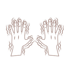 Alzheimer shaking hands vector