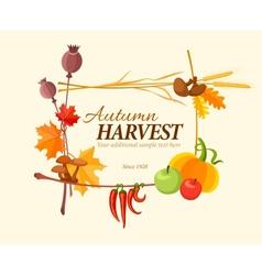 Autumn harvest frame vector