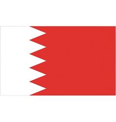 bahraini flag vector image