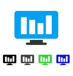 Bar chart monitoring flat icon vector