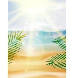 Beautiful Seaside View Poster vector image