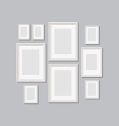 blank picture frames for photographs vector image