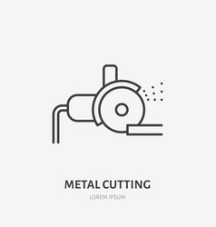 bulgarian saw flat line icon metal works tool vector image