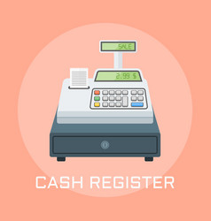 cash register flat design vector image