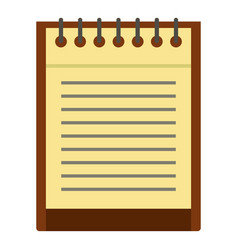 Clean lined sheet of notepad icon isolated vector