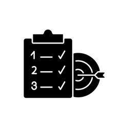 Clear goals black glyph icon vector