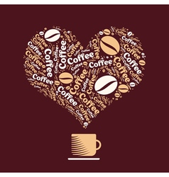 Coffee Heart 1 vector image