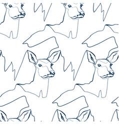 doe animal art line modern seamless pattern print vector image