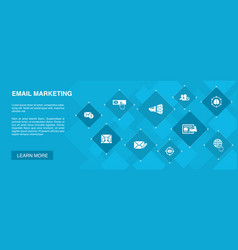 Email marketing banner 10 icons concept subscribe vector