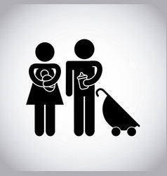 family couple design vector image