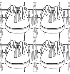 fashionable handbags black and white seamless vector image